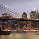 Nightmood of Downtown Manhattan Poster af Torsten Hoffmann