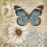 Sommerfuglehave II, Butterfly Garden II Posters af Conrad Knutsen