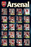 Arsenal - Squad Profiles Prints