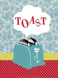 Toast Prints by Helene Druvert