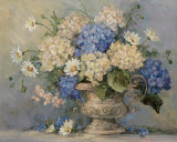 Blue and White Delight Prints by Barbara Mock