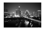 Austin Skyline 2010 B/W Photographic Print by John Gusky