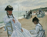 On the Beach Prints by Claude Monet
