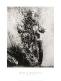Martin Munkacsi - Motorcyclist, Budapest, 1923 - Art Print