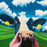 Cow II, Nosey Cow Art by Eoin O'Connor