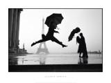 Francia, Parigi, 1989, Torre Eiffel, 100° Anniversario Poster di Elliott Erwitt