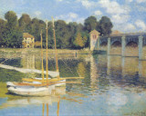 The Bridge in Argenteuil Print by Claude Monet