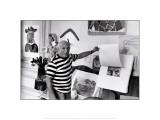 Pablo Picasso, Villa Californie, France Poster von Rene Burri