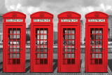 London - Phoneboxes Print
