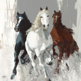 Les Chevaux I Prints by Bernard Ott