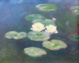 Water Lilies, Effects at the Evening Póster por Claude Monet