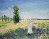 The Outing Print by Claude Monet