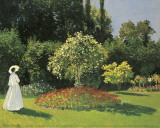 Woman in the Garden Art by Claude Monet
