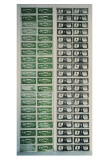 Front and Back of Dollar Bills, c.1962 Prints by Andy Warhol