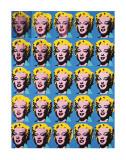 VIngt cinq Marilyns colorées, 1962 Poster par Andy Warhol