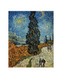 Country Road in Provence by Night, c.1890 Prints by Vincent van Gogh