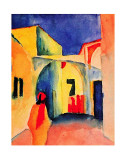 View into a Lane, 1914 Posters by August Macke