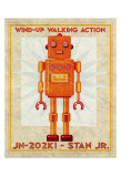Stan Jr. Box Art Robot Print by John Golden