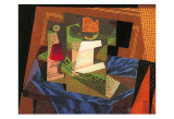 Fruit Bowl on a Tablecloth Psters por Juan Gris