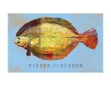 Winter Flounder Affiche par John Golden