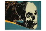 Skull, c.1976 (yellow on teal) Affiches par Andy Warhol