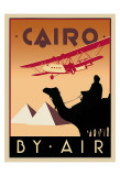 Cairo by Air Plakater af Brian James