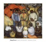 Triumph of the Revolution, Distribution of Food Prints by Diego Rivera