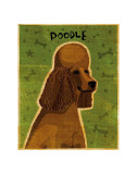 Poodle (brown) Art by John Golden