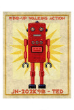 Ted Box Art Robot Poster by John Golden