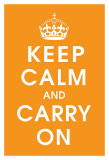 Keep Calm (orange) Poster