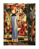 Large Bright Showcase Print by August Macke