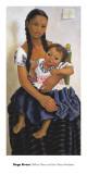 Delfina Flores and her Niece Modesta Affischer av Rivera, Diego