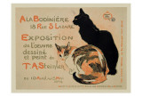 Exposition at Bodiniere Plakater af Théophile Alexandre Steinlen