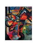 Colored Composition (Hommage a Sebastin Johann Bach) Print by August Macke