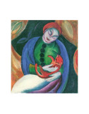Girl with Cat II Posters by Franz Marc