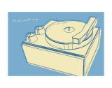 Lunastrella Record Player Pósters por John Golden