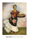 Portrait of Dolores Olmedo Posters par Diego Rivera