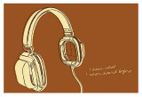 Lunastrella Headphones Posters by John Golden