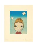 Green Eyes, c.2002 Poster van Yoshitomo Nara