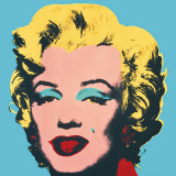 Marilyn, 1967 (On Blue) Poster van Andy Warhol