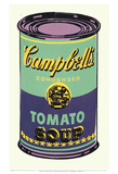 Bo&#238;te de soupe Campbell&#39;s|Campbell&#39;s Soup Can, 1965 (verte et violette) Affiches par Andy Warhol