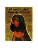Cavalier King Charles (black and tan) Art by John Golden