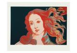 Detalj av Boticellis Venus födelse, ca 1984 Posters av Andy Warhol
