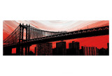 Manhattan Bridge Aura Posters af Erin Clark
