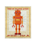 Stan Jr. Box Art Robot Lminas por John Golden