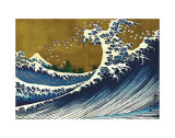 Great Wave (from 100 views of Mt. Fuji) Prints by Katsushika Hokusai