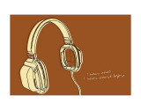 Lunastrella Headphones Prints by John Golden