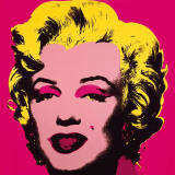 Marilyn Monroe, 1967 (hot pink) Plakat af Andy Warhol