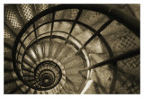 Spiral Staircase in Arc de Triomphe Print by Christian Peacock