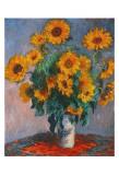 Vase mit Sonnenblumen Kunstdruck von Claude Monet